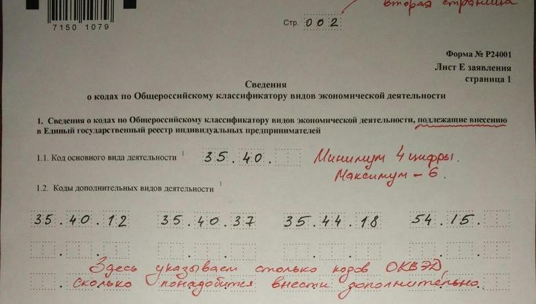 Изображение - Заявление по форме р24001 (внесение изменений ип) obrazets_zapolneniya_forma_r24001-2