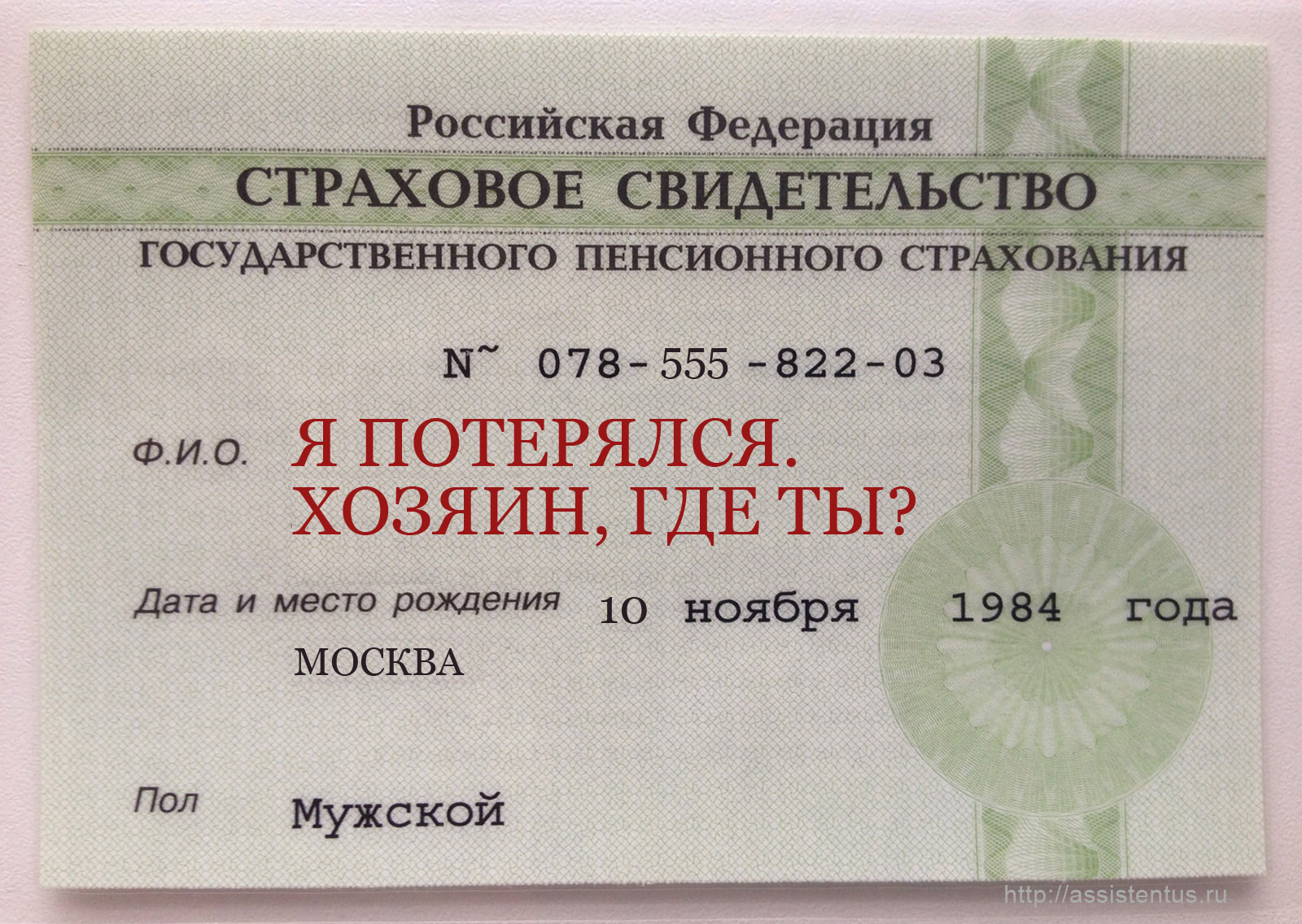 Паспортный стол номер