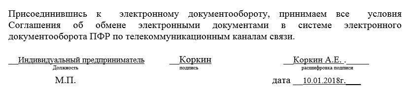 Заявление в пф на электронную отчетность регистрация ип в спб в кировском районе