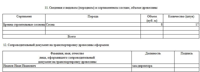 Сопроводительный документ на транспортировку древесины. Часть 2.