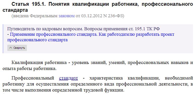 Статья 195.1 ТК РФ
