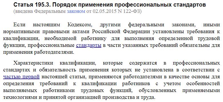 Статья 195.3 ТК РФ