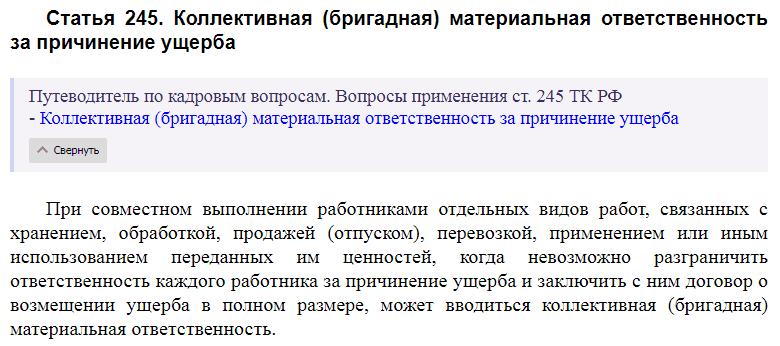 Статья 245 ТК РФ
