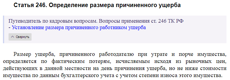 Статья 246 ТК РФ