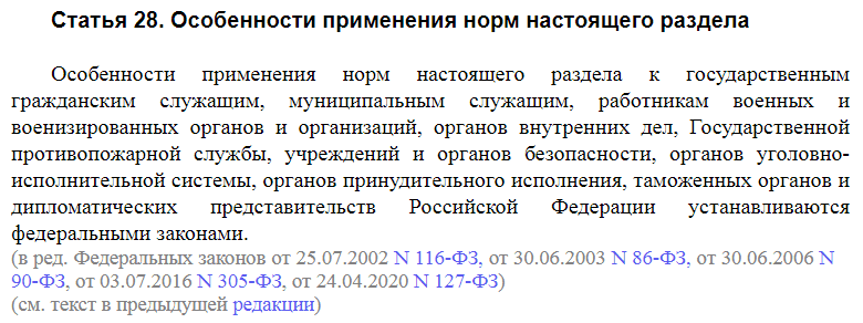Статья 28 ТК РФ