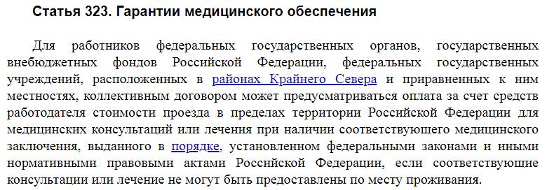 Статья 323 ТК РФ