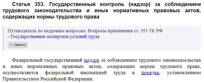 Статья 353 ТК РФ